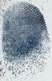 Fingerabdruck als Erinnerungsstück